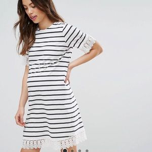 ASOS Maternity Stripe Dress With Lace Trim 6
